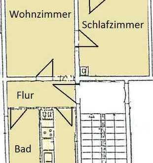 Wohnung auf dem Land - mit Einbauküche und Balkon -