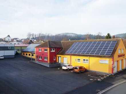 TOP-Gewerbeimmobilie m. sep. Heizungsgeb. auf 1.556 m² gr. Grund in Sonnefeld-OT, Nähe Coburg-LIF-KC