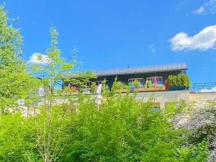 Stylisches Penthouse mit großer Dachterrasse an der schönen Würm