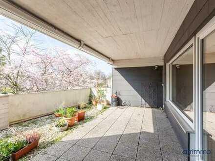 2-Zimmer-Wohnung mit großer Terrasse und Gemeinschaftsgarten direkt am Königsforst