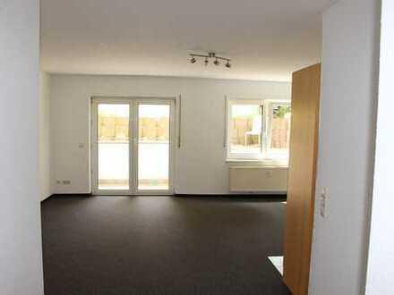 Minderslachen: Einzimmerwohnung Souterrain mit Terrasse und Aussenstellplatz