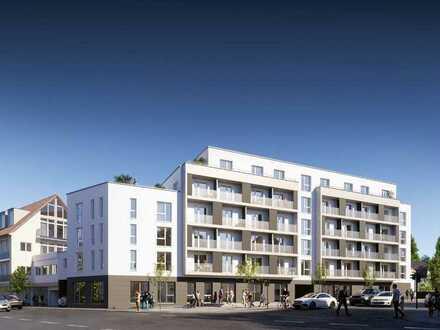 Neubau/Erstbezug: Möblierte 2-Zimmer-Wohnung mit EBK im Ortskern von Echterdingen