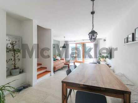 Familienheim in naturnaher Randlage von Amberg: Schönes 6-Zimmer-Reihenmittelhaus mit Sonnengarten