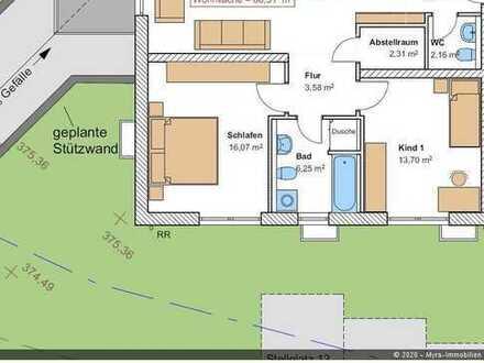 *Projektiert* EG-Wohnung Nr.2 mit Balkon und TG-Stellplatz - Barrierefreie & behindertengerecht *