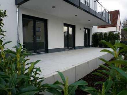 Erstbezug mit Terrasse: attraktive 3-Zimmer-EG-Wohnung in Seligenstadt