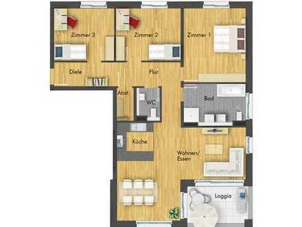 Herrliche 4-Zimmer Wohnung mit Loggia im 1. Obergeschoss