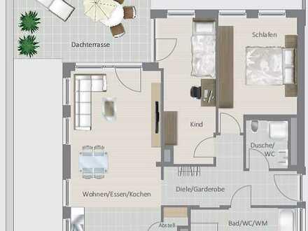 Moderne 3,5-Zimmer Neubauwohnung in zentraler Wohnlage