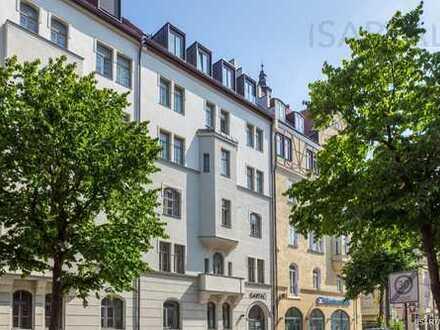 Haidhausen @it´s best: 5-Zi. Bel Étage Altbauwohnung mit 2 Balkonen zum Verlieben:
