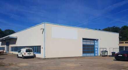 Beheizte sowie befahrbare Halle für Produktion und Lager - mögliche Erweiterung durch Freiflächen