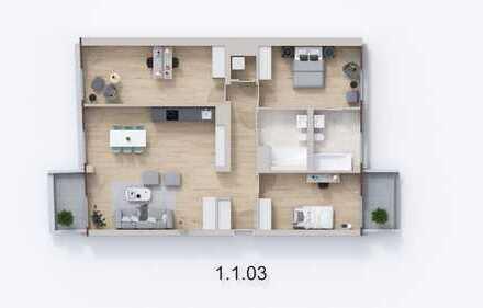 """Helle 4-Zimmer-Wohnung im Neubauensemble """"Neue Florahöfe"""" mit 2 Balkonen"""
