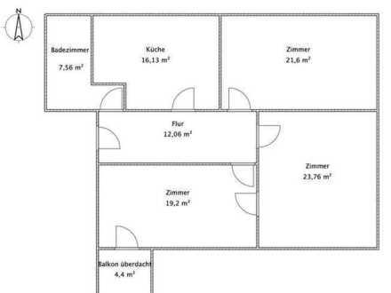 Erstbezug nach Sanierung mit Balkon: ansprechende 3-Zimmer-Wohnung in Gessertshausen
