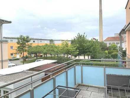 Knipfer Immobilien - Sehr schöne und sonnige Wohnung mit Südbalkon beim Glaspalast!