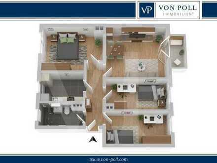 Erstbezug nach Modernisierung - gut geschnittene 4-Raum-Wohnung mit EBK + Balkon in Reutershagen