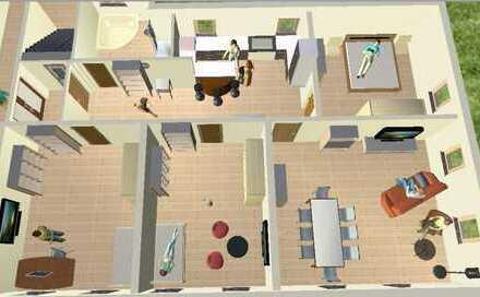 Schöne 4-Zimmer-Wohnung mit Terrassennutzung - super Lage - modernste Technik