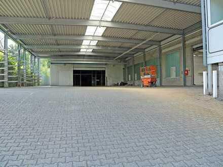 Produktions-/Lagerhallen m. Büros u. Freifläche sowie 2 LKW Zufahrten!