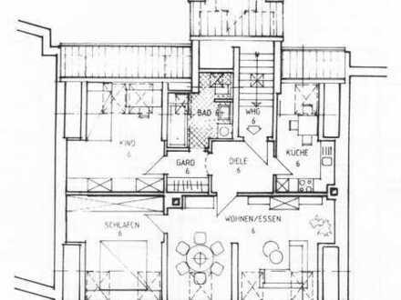 Schöne 3-Zimmerwohnung im Dachgeschoß in Plauen