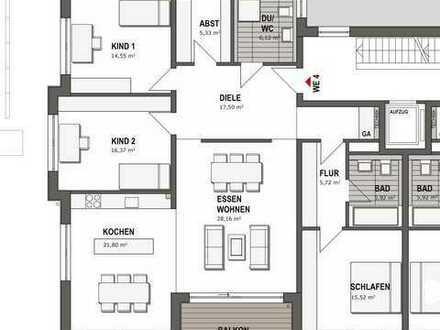 Lichtdurchflutete Etagenwohnung mit 4,5 Zimmern