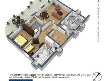 2,5-Zimmer-Terrassenwohnung zentral im Grünen in Gummersbach
