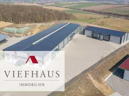 !! VERKAUFT !! Gewerbegrundstück (ca. 10.000m²) mit neuwertigen Produktions- und Lagerhallen (ca....