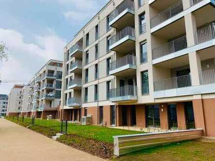 * schöne Erdgeschoss-Wohnung mit Terrasse und Garten *
