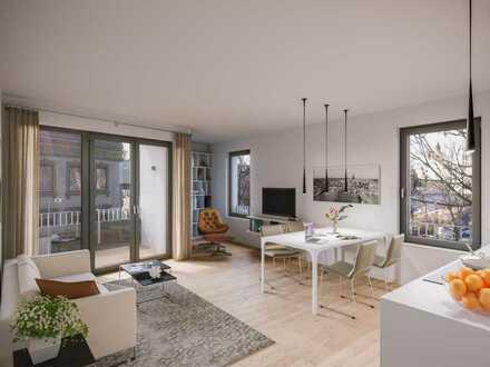 Wohlfühlwohnen in begehrter Lage: Helle 3-Zimmer-Wohnung mit Süd-Balkon und 2 Bädern