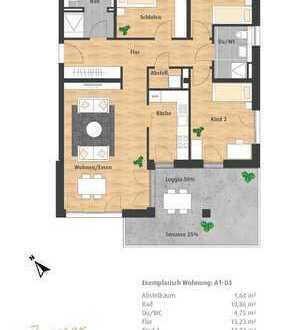 4-Zimmer-Neubau-ETW mit Loggia im Hatz-Areal - Das Tor zur Innenstadt