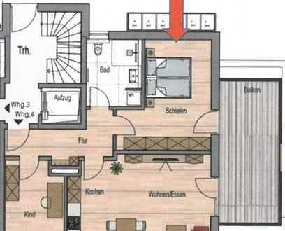 Neubau Wohnung mit drei Zimmern und Balkon in Sulzberg
