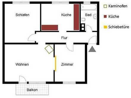 Modernisierte, helle 3-Zimmerwohnung mit Balkon im 1.OG mit 70 qm im Herzen Landaus