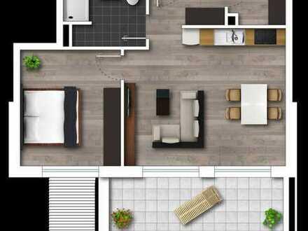 Neubau, 2-Zimmerwohnung im 1 OG. mit Südbalkon