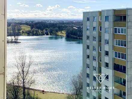 Attraktive 3 ZKB Whg - mit Seeblick-Loggia - idyllisch & ruhig - nahe Lerchenauer See & OEZ
