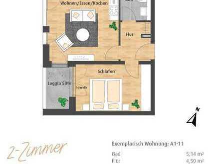 Neubau-Erstbezug - 2-Zimmer-ETW mit Loggia im Hatz-Areal - Das Tor zur Innenstadt