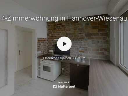Ideal für 3er-WG: 2 Balkone- neues Badezimmer- Hannover-Wiesenau + Online-Besichtigung 🤗