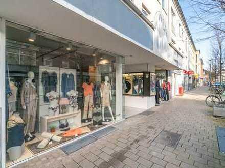 Gut geschnittenes Ladenlokal in stark frequentierter Lage der Weseler Fussgängerzone