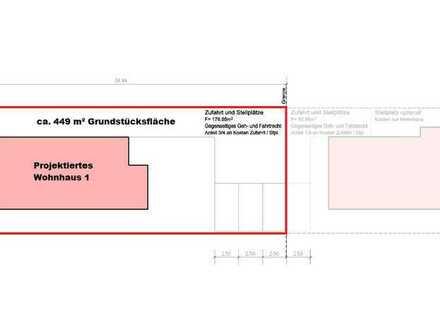 Sonniges Grundstück mit Baugenehmigung für projektiertes Ein- bis Dreifamilienhaus (in SAP Nähe)