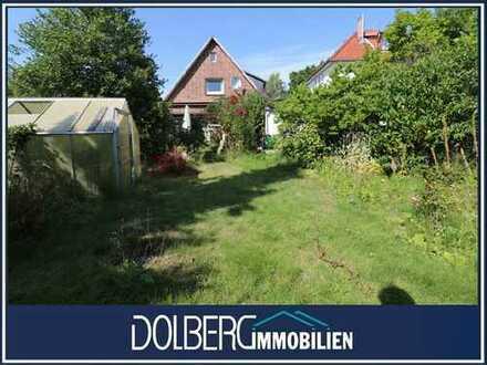 538 m² großes Baugrundstück für DHH- oder EFH-Bebauung in grüner Lage von Alt-Rahlstedt