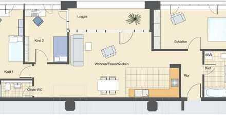 Barrierefreie 4 Zimmer Loft Wohnung