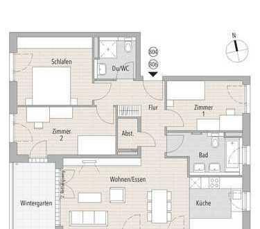 Moderne Eigentumswohnung inkl. Wintergarten