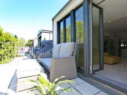 HEINRICH v. KÖLICHEN: Luxuriöse 4-Zi-DG-Whg m. großer Terrasse in grüner Lage von Muc-Feldmoching