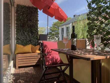 Erstbezug nach Sanierung: freundliche 3-Zimmer-EG-Wohnung mit Einbauküche und Balkon in Frankfurt