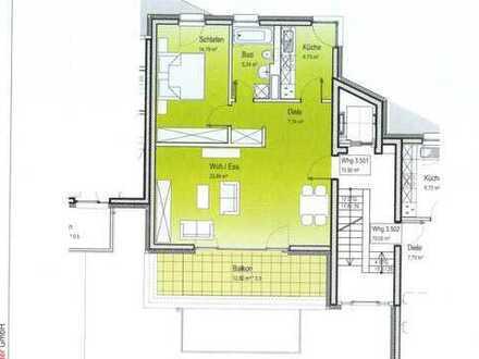 Super zentral, Neubau: helle 2 Zimmer Wohnung, großzügig geschnitten, EBK, BLK, Kfz-Stellplatz