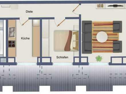 helle und praktische 2-Raumwohnung
