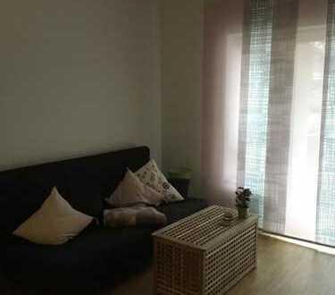 Attraktive 1-Zimmer-Maisonette-Wohnung mit Balkon und Einbauküche