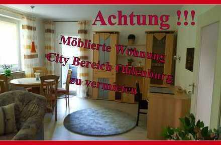 Möblierte voll ausgestattete 2 Zimmerwohnung/Balkon, City Oldenburg, NEU Renoviert !!!