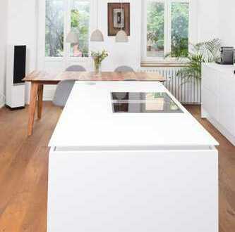 Wohnen & Arbeiten: Bezugsfreie 6 Zimmer-Maisonette Wohnung mit (Ton-)Studio, Büro, Balkon & Terrasse