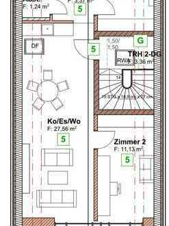 Erstbezug mit Einbauküche und Dachterrasse: ansprechende DG-Wohnung in Laupheim
