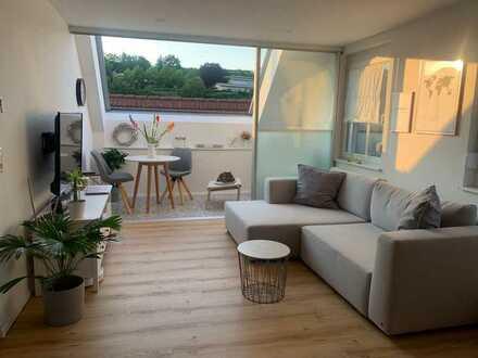 Top renovierte 3 Zimmer-Maisonette-Wohnung mit Einbauküche über den Dächern von Bahlingen