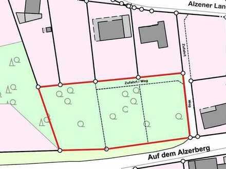 2.617 m² großes, teilerschlossenes, in drei Bauparzellen teilbares Grundstück mitten in Morsbach