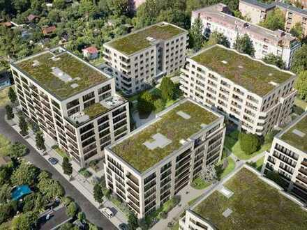 Zauberhafte 2-Zimmer-Wohnung mit schöner Süd-Loggia und Grünblick bis in die Kleingärten