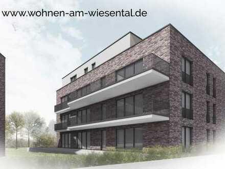Terrassenwohnung und 91 m² Gartenanteil am Wiesental. Erstbezug!