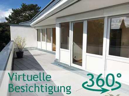 3,5-Zi.-DG-Wohnung mit riesiger Dachterrasse und schöner Aussicht